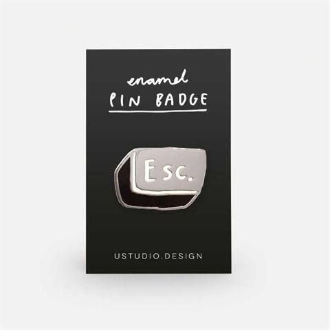 Esc Button Enamel Pin