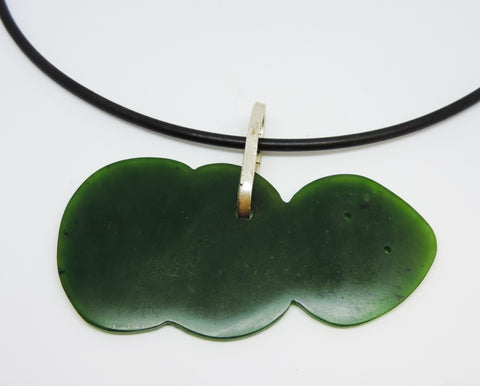 Pounamu and Stirling Silver Pendant