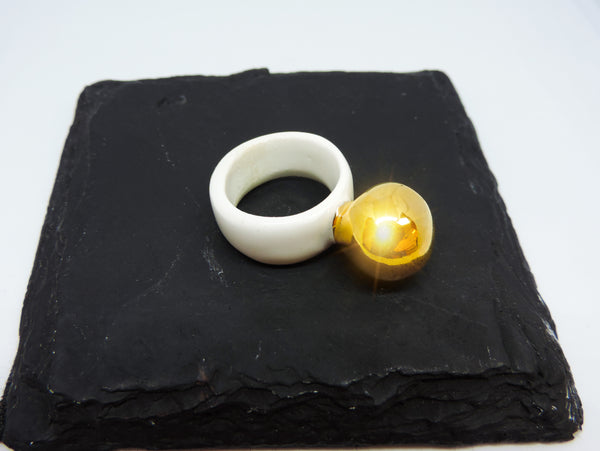 Porcelain Bauble Ring