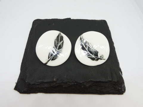 Porcelain Feather Earrings
