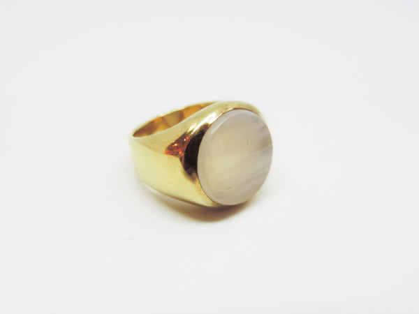 Agate and Gold Vermeil Ring