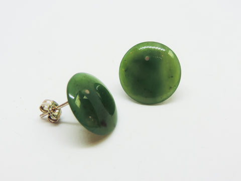 New Zealand Pounamu Polished Dome Studs