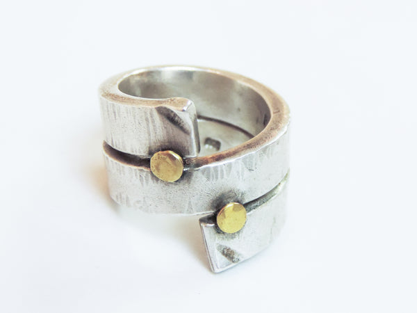 Gold and Stirling Silver Ring