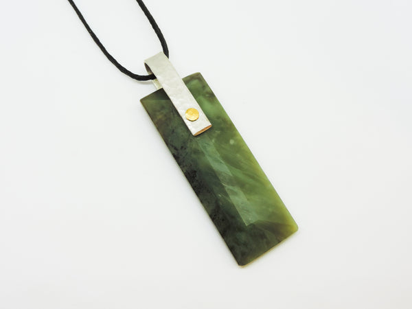Pounamu, Stirling Siver and 24ct Gold