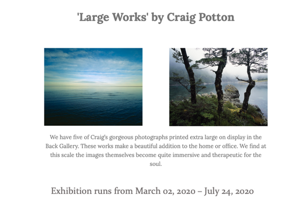 Large Works by Craig Potton March 2020/July 2020