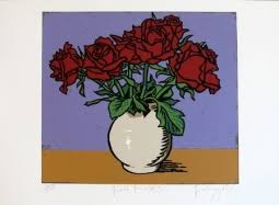 Red Roses Small Art Print