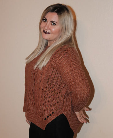The Caramel Eyelet Sweater from Paige Avneue
