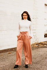 The Take Me Out Pants in Burnt Taupe