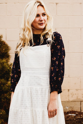 The Remember Me Overall Dress in White