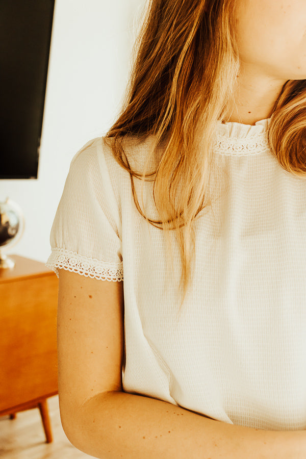 The Holland Lace Top in White