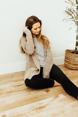 The Bristol Cardigan in Tan