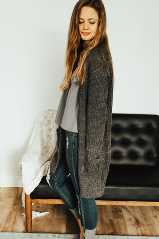 The Bristol Cardigan in Gray