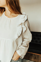The Dulcet Ruffle Top in White