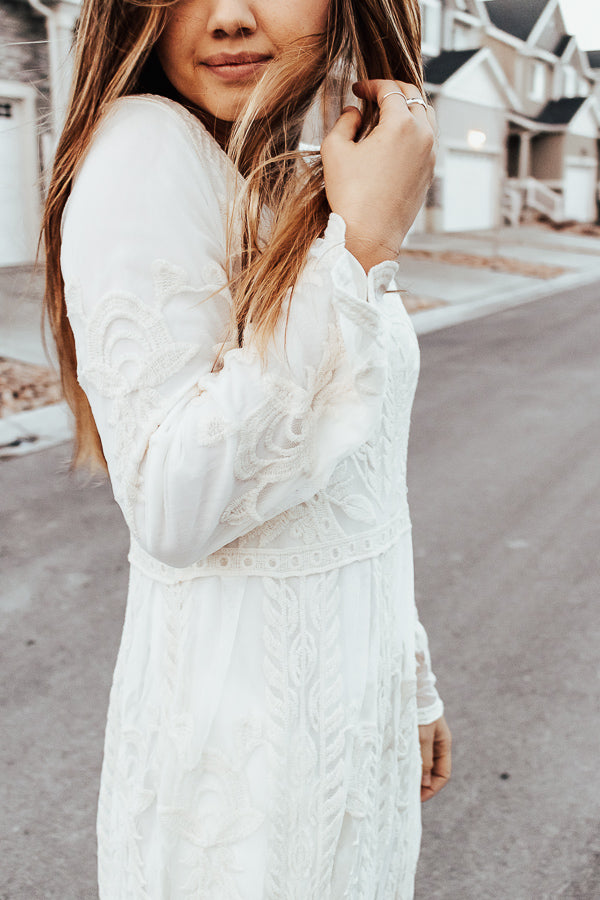 The Serendipity Maxi Dress in Ivory