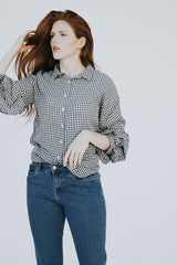 The Frenchie Gingham Top