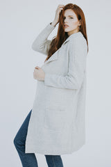 The Manhattan Cardigan in Gray