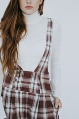The Nancy Plaid Overalls