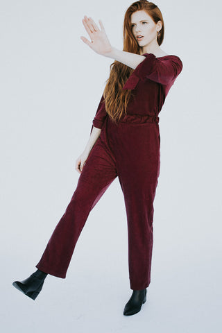 The Holly Jumper in Wine