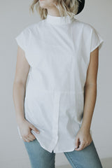 The Queen Neck Top in White