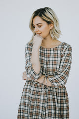 The October Sky Plaid Dress