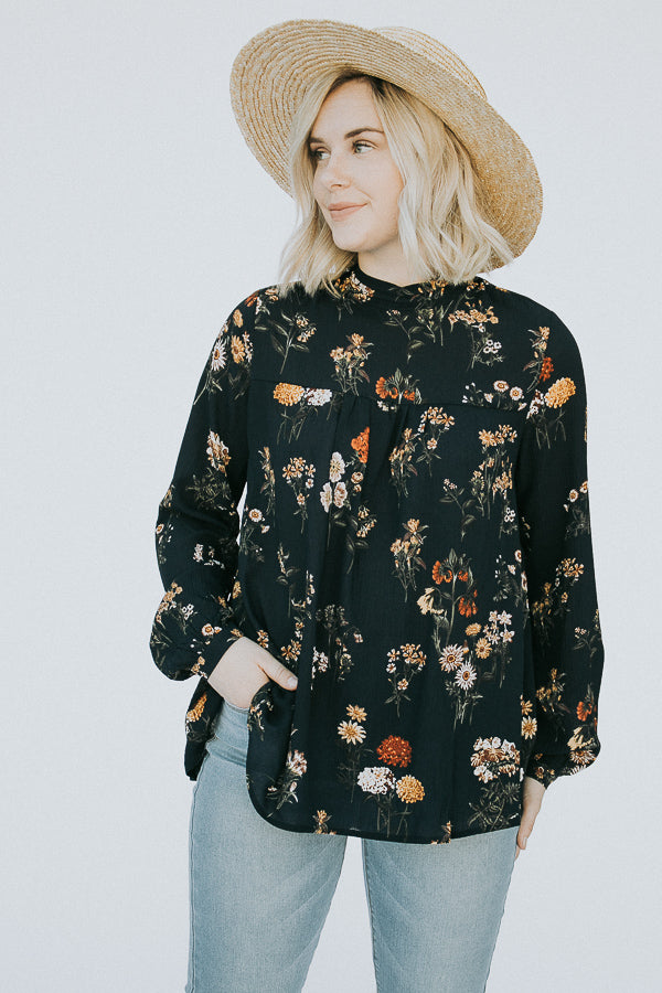 The Woodland Top in Navy