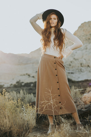 The Panama Skirt in Mocha