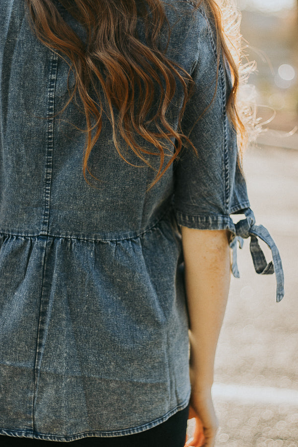 The Haven Chambray Top in Denim