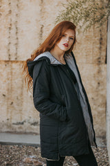 The Logan Puffer Jacket in Black