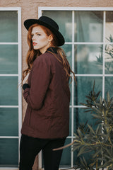 The Roasted Bomber Jacket in Maroon