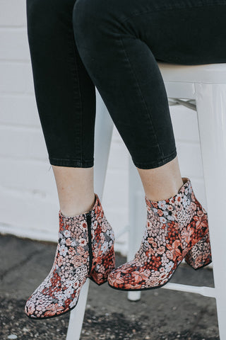 The Montague Bootie in Floral