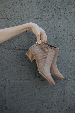 The Waffle Bootie in Taupe