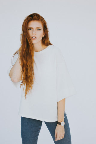 The Beau Sweater in White