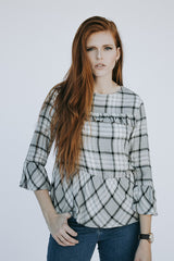 The Evie Plaid Ruffle Top