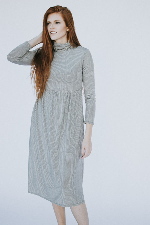 The Amena Striped Dress