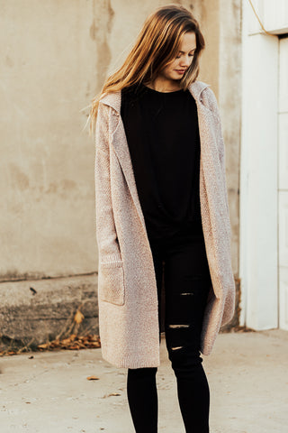 The Manhattan Cardigan in Blush