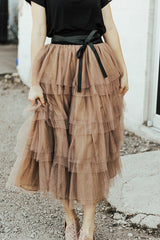 The Play with Me Skirt in Mocha