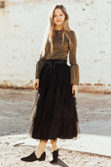 The Play with Me Skirt in Black