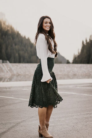 The Genevieve Lace Skirt