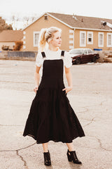 The Remember Me Overall Dress in Black