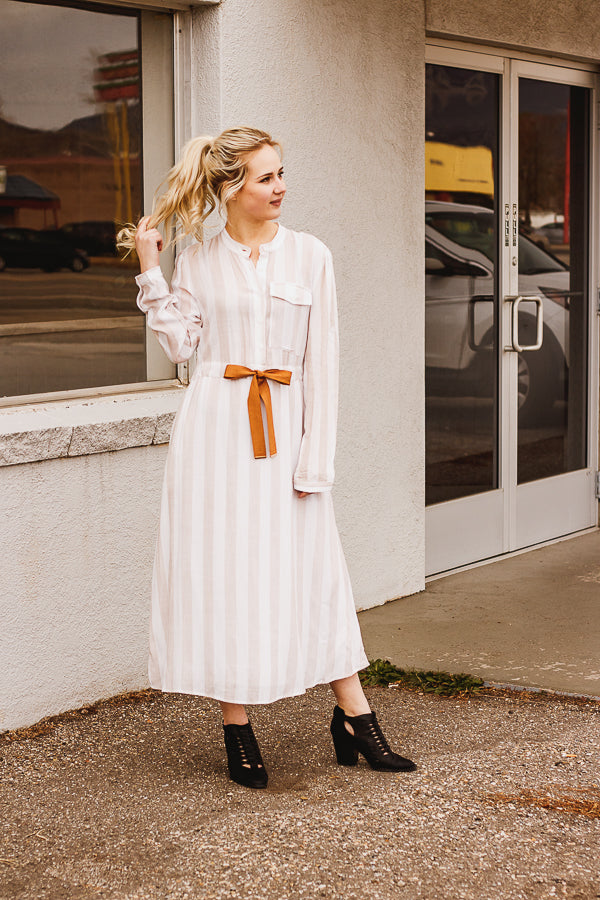 The Pilot Point Button Up Dress