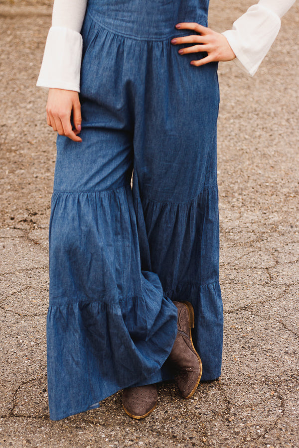 The Amara Denim Jumpsuit