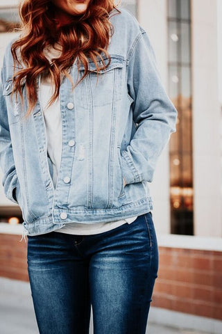 The Rylee Distressed Denim Jacket