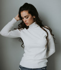 The Basic Turtleneck in White