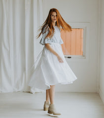 The White Overall Skirt