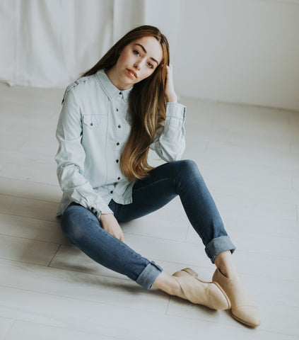 The Baby Chambray Top