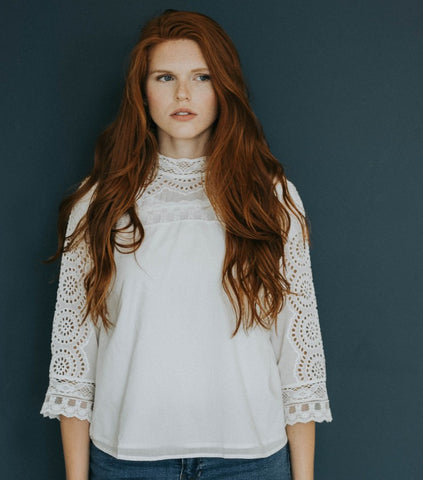 The Elizabeth Lace Top in White