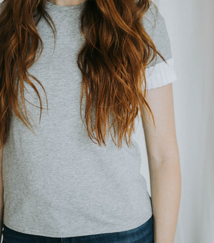 The Gray Ruffle Sleeve Tee
