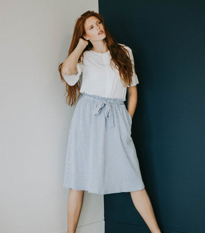 The Cool Me Down Skirt in Gray
