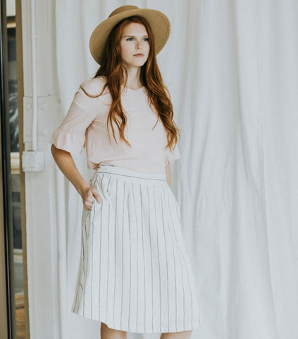 The Striped Linen Skirt