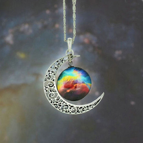 Moon Galaxy Necklace & Pendant - marketplacefinds  - 1